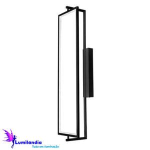 Luminária de Parede Arandela Mina Fina Preto - LED Integrado