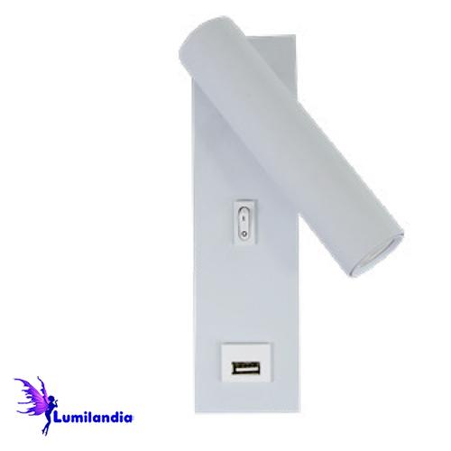 Luminária de Parede Arandela LED Landa com USB