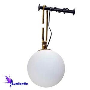 Luminária de Parede Arandela Moderna Botarell com Globo de Vidro