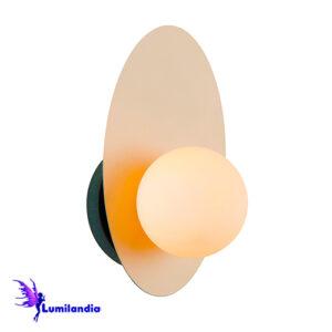 Luminária de Parede Arandela Moderna Arvoli Globo de Vidro