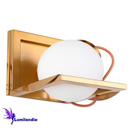 Luminária de Parede Arandela Interna Moderna Baya com Globo