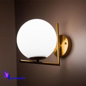 Luminária de Parede Arandela Moderna Laca com Globo