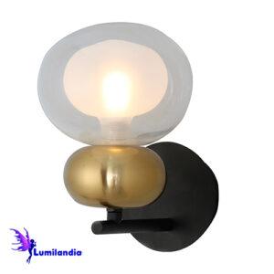 Luminária de Parede Arandela Moderna Ginestar com Globo de Vidro