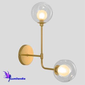 Luminária de Parede Arandela Moderna Patitec com 2 Globos
