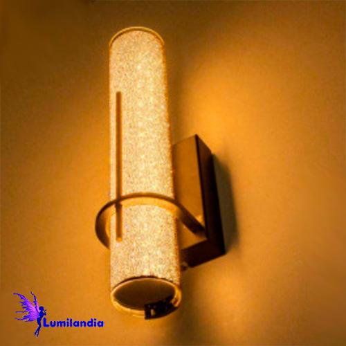 Luminária de Parede Arandela Moderna Lorena Tubular Preta - LED Integrado