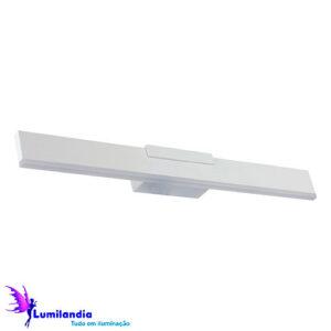 Luminária de Parede Arandela para Espelho Reta com Acrílico Largo - LED Integrado