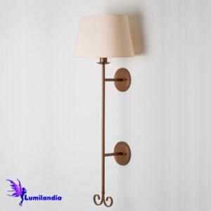 Luminária de Parede Coluna Florença com Cúpula de Tecido