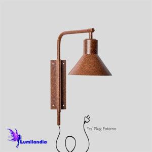 Luminária de Parede Arandela Tadesca Articulada