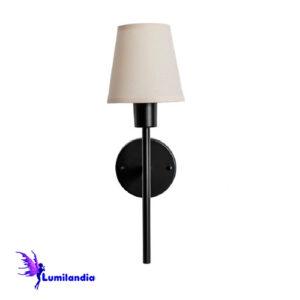 Luminária de Parede Arandela Tocheiro Mini com Cúpula de Tecido