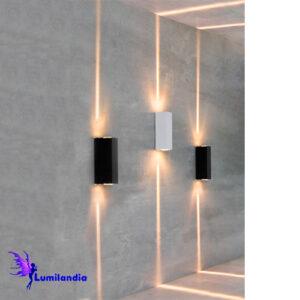 Luminária de Parede Arandela LED Moderna Mitel com Dois Fachos
