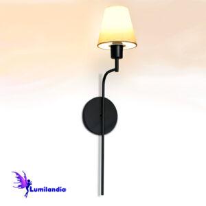 Luminária de Parede Arandela Tocheiro Tucho Curva com Cúpula
