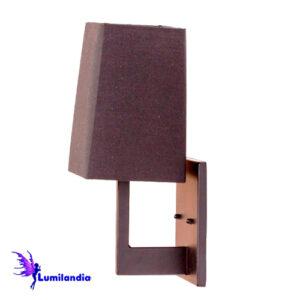 Luminária de Parede Arandela Quadra com Cúpula de Tecido