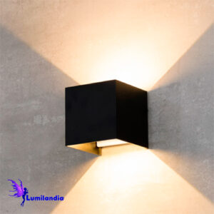 Luminária de Parede Quadradinha Arandela LED Moderna Vona