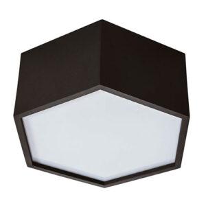 Luminária Plafon de Sobrepor Colmeia Sextavada Individual