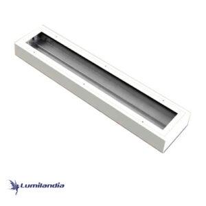 Luminária de Sobrepor Hermética Sala Limpa IP65 – Para TuboLED T8, 2x9w, 2x18W, 4x9w e 4x18w