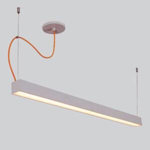 Luminária de Sobrepor Fine Pendente Retangular LED com Difusor