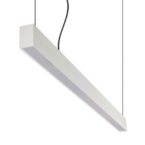 Luminária de Sobrepor Pendente Retangular com Difusor para Tubo LED