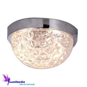 Luminária de Sobrepor Plafon de Vidro Mair Transparente