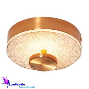 Luminária de Sobrepor Plafon Redondo Kiara LED - Pequeno 16cm