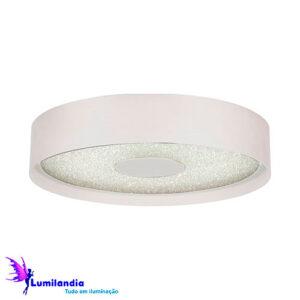 Luminária de Sobrepor Plafon Redondo Olorum Branco - LED Integrado 40W