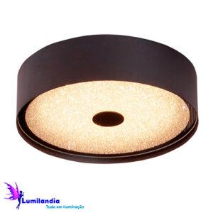 Luminária de Sobrepor Plafon Redondo Olorum Preto - LED Integrado 16W
