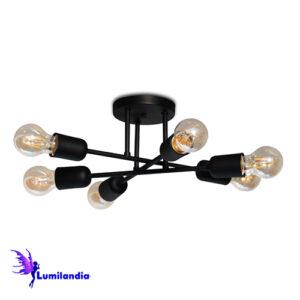 Luminária de Teto Plafon Trena para 6 Lâmpadas