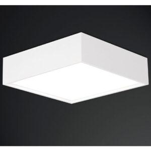 Luminária Plafon de Sobrepor Quadrada com Difusor em Acrílico