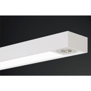 Luminária de Sobrepor Retangular com Acrílico e 2 Spots Direcionáveis