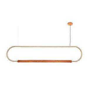Pendente de Madeira Rings Oval LED