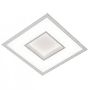 Luminária Plafon de Embutir LED Quadrado com Difusor e Furo central