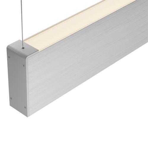 Luminária de Sobrepor LED Pendente Slim Retangular Facho Duplo