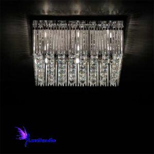 Luminária Plafon de Cristal Moderno Quadrado Fortquatra