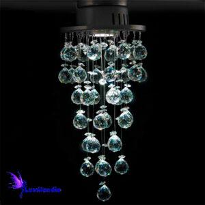 Luminária Plafon de Cristal Moderno Redonda Claire