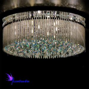 Luminária Plafon de Cristal Moderno Redondo Criaris