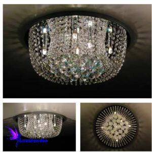 Luminária Plafon de Cristal Moderno Redondo Guell
