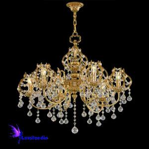 Lustre de Cristal Asfour Candelabro Royal para 4 Lâmpadas