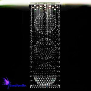 Lustre de Cristal Moderno Quadrado com Esferas
