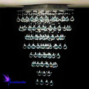 Lustre de Cristal Moderno Plafon Retangular Mestre Gaudi