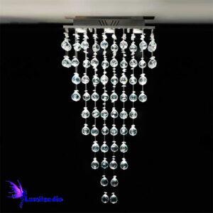 Lustre de Cristal Moderno Plafon Quadrado Sereno