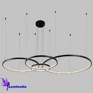Lustre Pendente de LED Circulo Daire 4 Aros