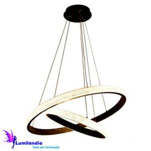 Pendente Moderno Anell Duplo - LED Integrado