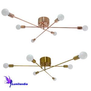 Lustre Plafon Moderno Fiatide para 6 Lâmpadas