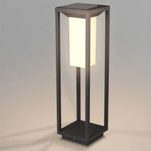 Mini Poste Balizador Quadrado com Sensor de Presença e Fotocélula LED - SOLAR