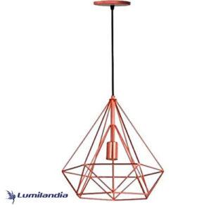 Pendente Aramado Diamante Pirâmide