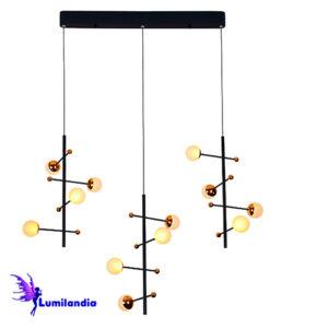 Lustre Pendente Moderno Cadiz Triplo - LED Integrado