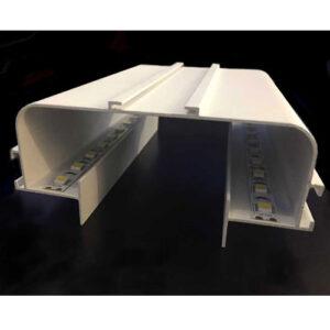 Perfil de Alumínio para Fita de LED Duplo Cicle No Frame