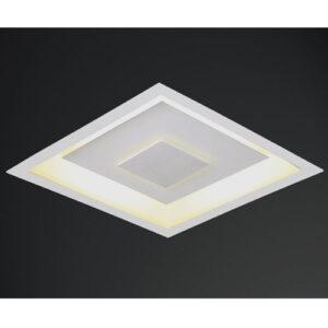 Luminária Plafon de Embutir Drags Quadrado Luz Indireta