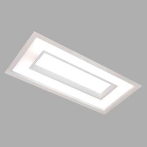 Luminária Plafon de Embutir Caoa Retangular com Difusor e Centro recuado