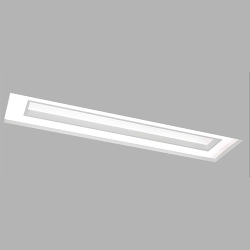 Luminária de Embutir Caoa Retangular No-Frame com Difusor e Centro recuado