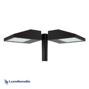 Poste Pétala Chanfrada Duplo para Lâmpada LED